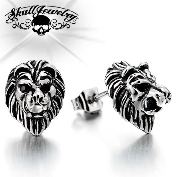 'Lion' Earring w/Red Eyes (e034)