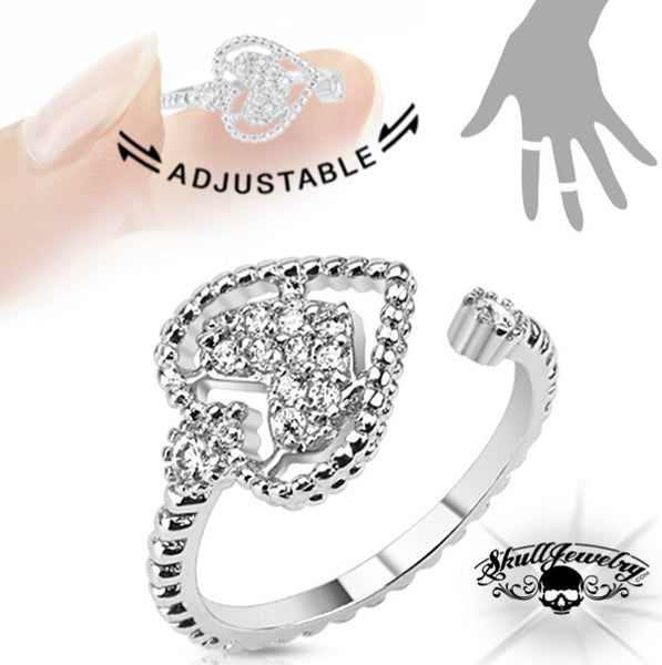 'Love Alive' Adjustable Ring (adj009)