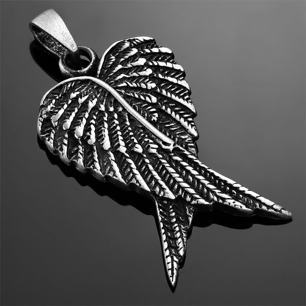 Loving Angel Wings Heart Pendant