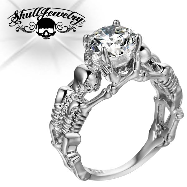 'Matrimonio Scheletro' Skeleton Wedding/Engagement Ring (w013)