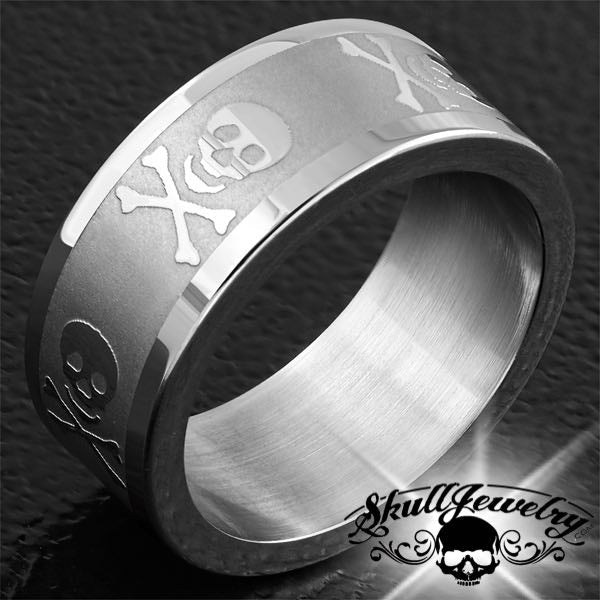 Matte Finish Pirate Skull & Crossbones Ring