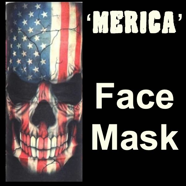 'Merica' Face Mask - 14 Different Uses (#mask009)