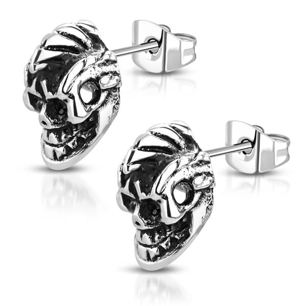 'Mohawk' Skull Earrings