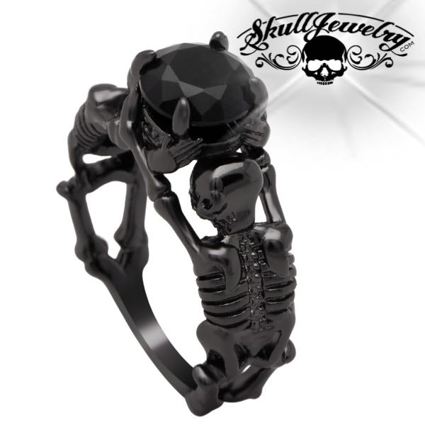 'Nero Su Scheletro Nero' Skeleton Ring