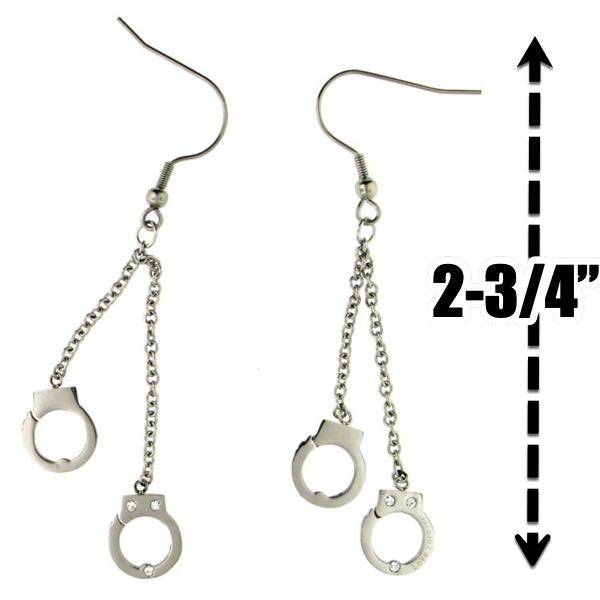 'Never Going Back' Handcuffs Earring (e009)