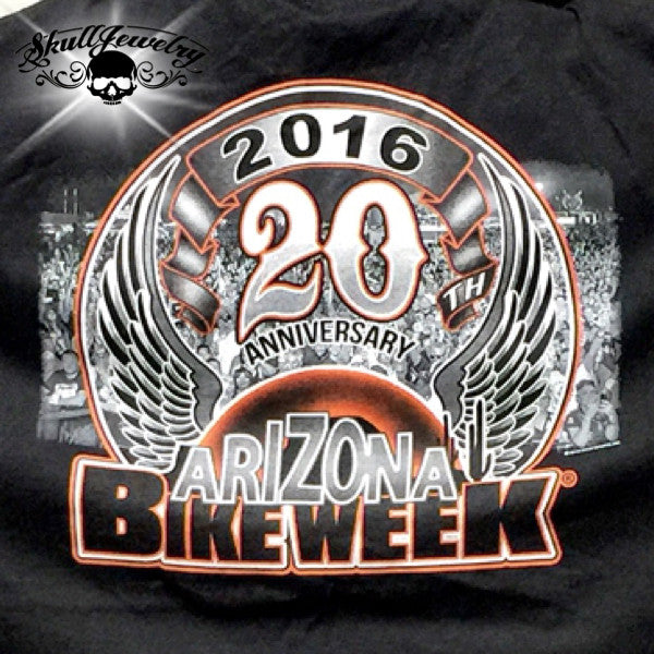 Official 2016 Arizona Bike Week 20th Anniversary T-Shirt