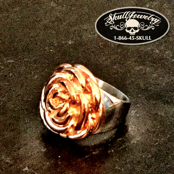 'One in a Million' Gold/Stainless Steel Rose Ring