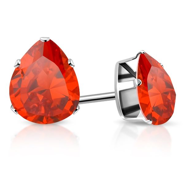 Orange Hyacinth CZ Earrings (e046)
