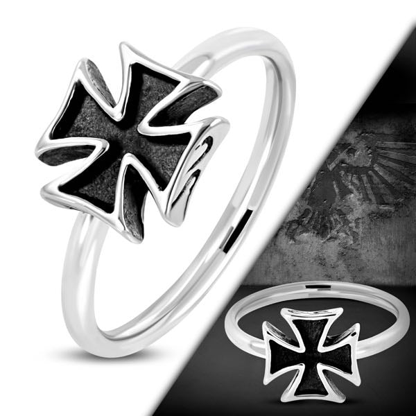 Pattee Cross Biker Ring