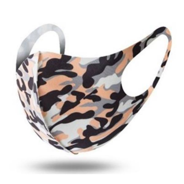 Peach/Orange Camouflage Washable Face Mask