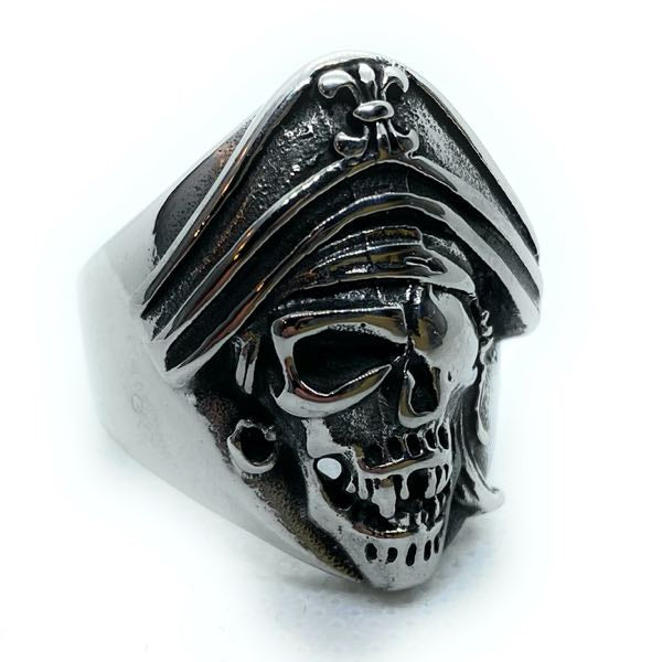 Retro Rock Skull Jewura Biker Ring Fashion Stainless Steel Jewelry Rings