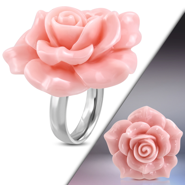 'Pretty In Pink' Rose Ring (c266)