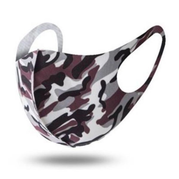 Purple/Maroon Camouflage Washable Face Mask