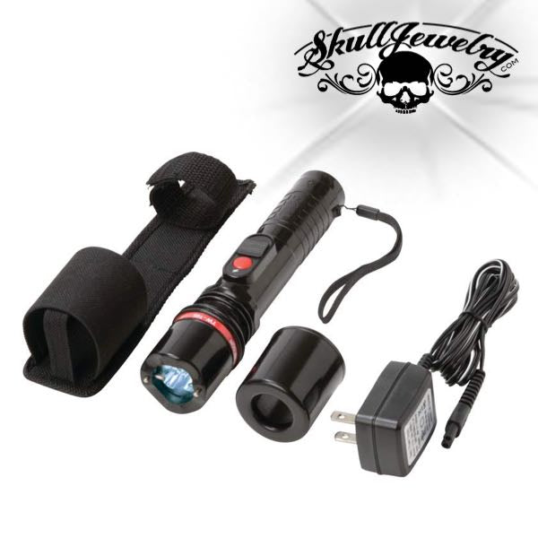 Rechargeable 300,000 Volt Heavy-Duty Stun Gun & Flashlight