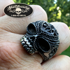 'Satisfaction' Detailed & Antiqued Skull Ring
