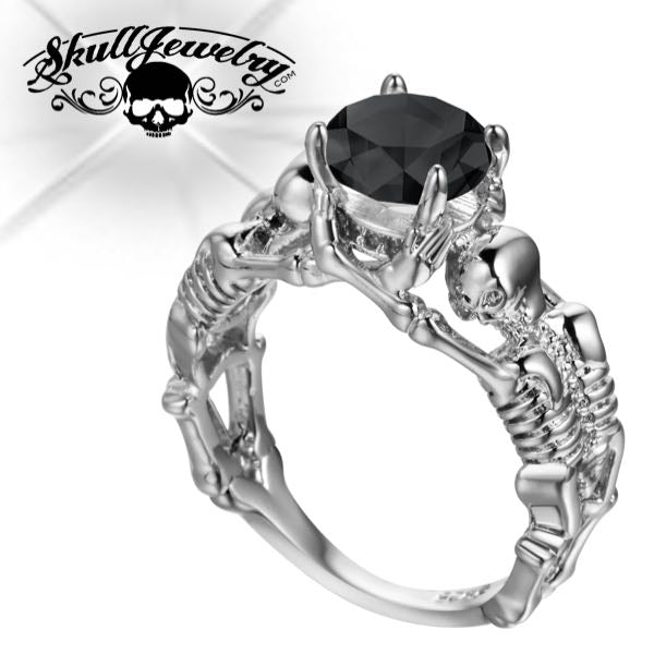 'Scheletro Nero' Skeleton Wedding/Engagement Ring (w003)
