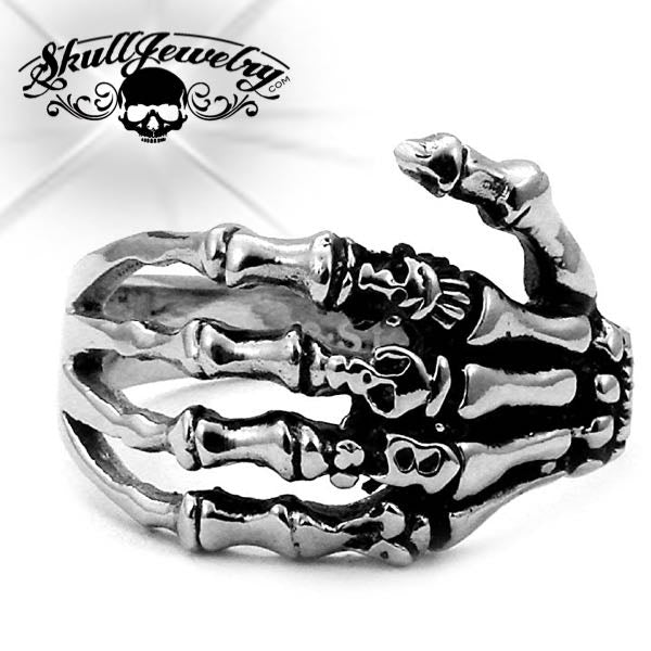 'Skeleton Hand' w/Skulls Ring