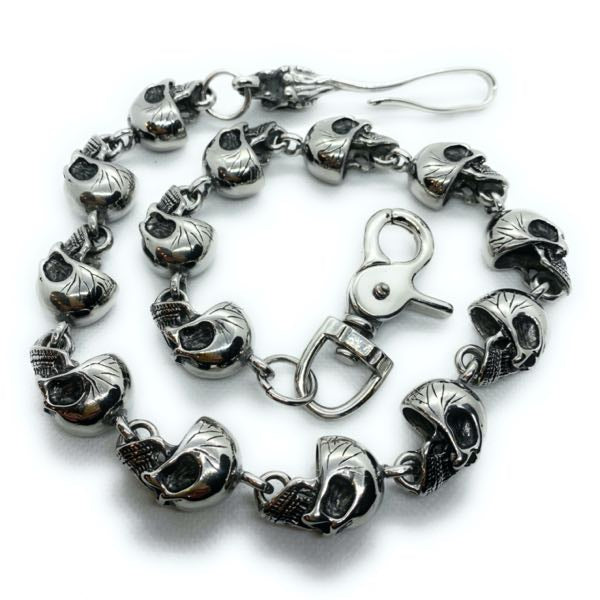 SkullDuggery wallet chain made of solid 316l stainless steel
