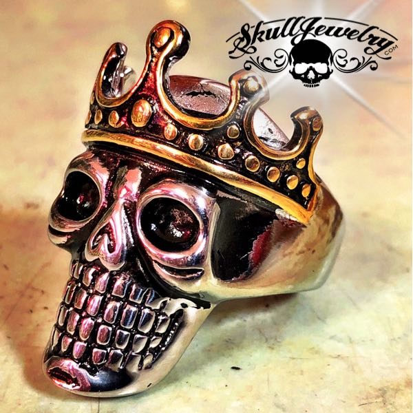 'Skull King' Stainless Steel Ring