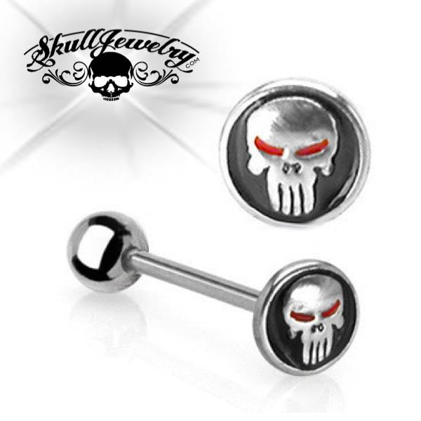 Skull w/Red Eyes Barbell