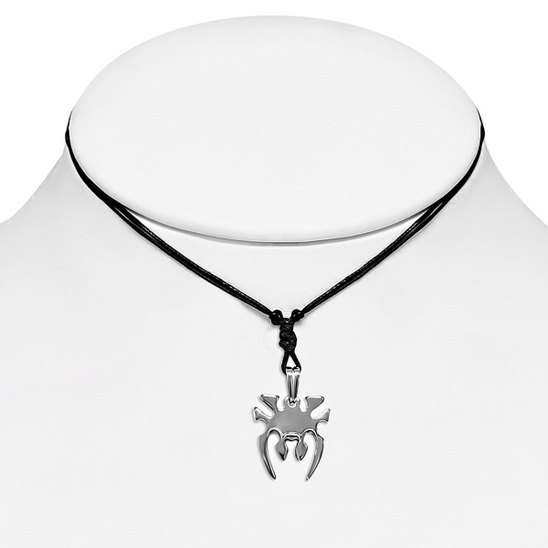 Sleek Adjustable Spider Pendant Necklace