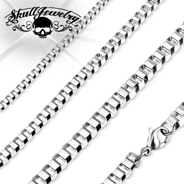 Stainless Steel Box Chain Necklaces