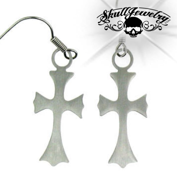 Stainless Steel Cross Earring