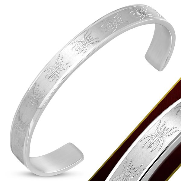 Stainless Steel Spider Cuff Bangle
