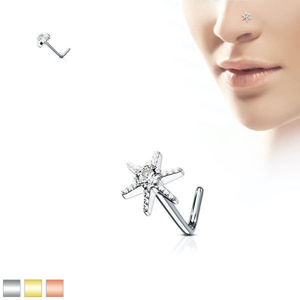 Starburst Nose Stud (3 Colors to choose from)