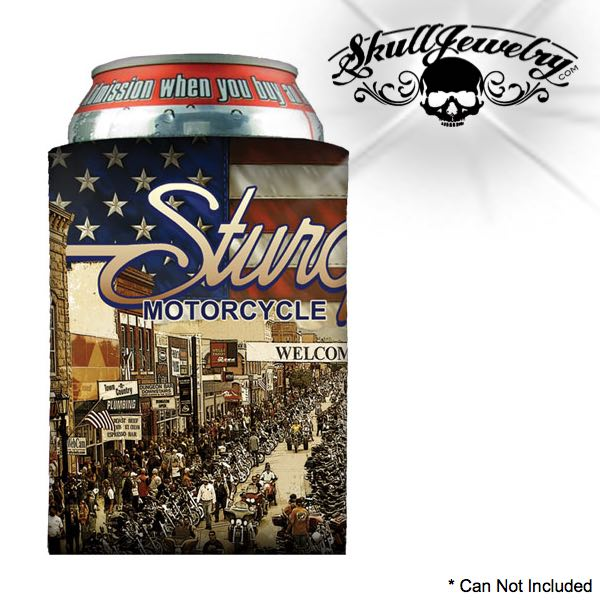 Sturgis 'Red, White & Blue' Can Koozie