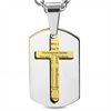 'The Lords Prayer' Two-Tone Pendant