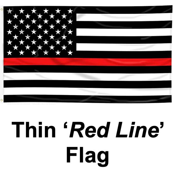 Thin RED Line Flag (flag022)