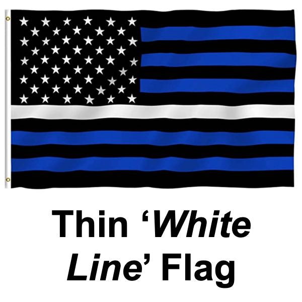 Thin White Line Flag (flag032)