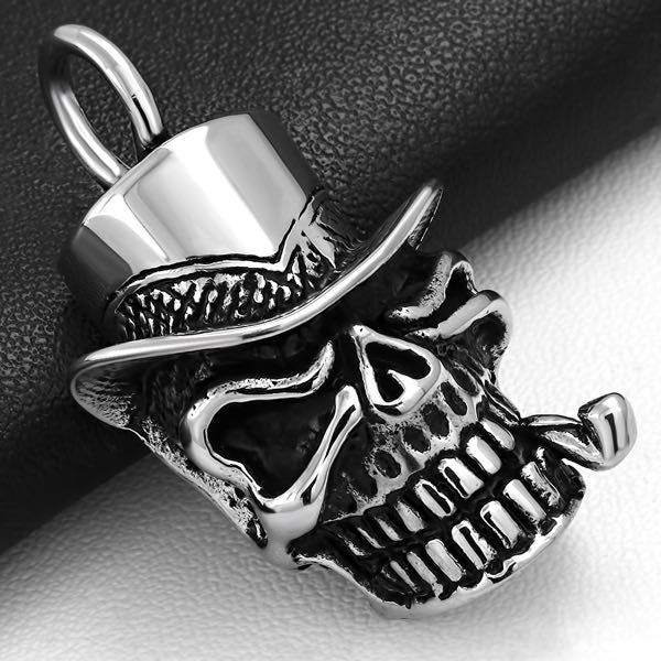 'Top Hat' With Pipe Skull Pendant