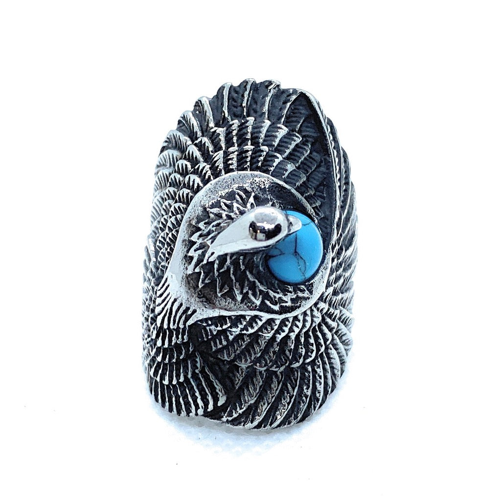 'Native American Dove' ring w/Turquoise Ring (664)