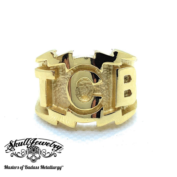 Gold-Tone 'TCB' Elvis Presley Ring (424Gold)