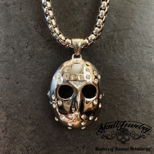 'Jason Mask' Stoned Pendant (p033)