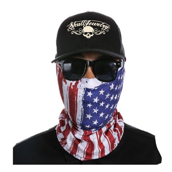 USA Flag Face Mask - 14 Different Uses (USA Mask)