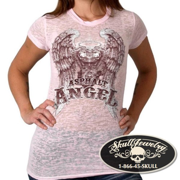 Asphalt Angel Pink Burnout T-Shirt