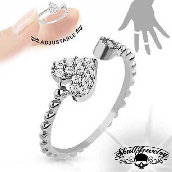 'Who You Love' Adjustable Heart Ring (adj010)