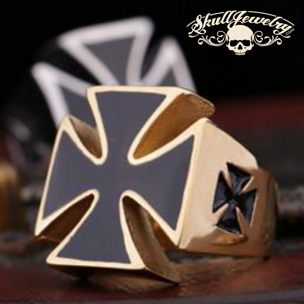 World War II Iron Cross Man's Stainless Steel Fashion Ring