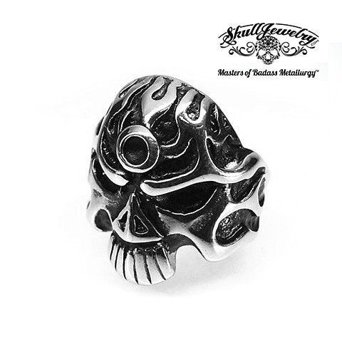Light My Fire Skull Ring