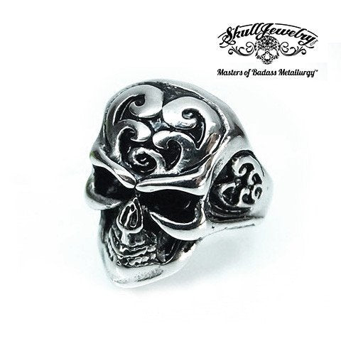 Electric Warrior Skull Ring