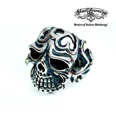 Cheeky Flamenco Stainless Skull Ring