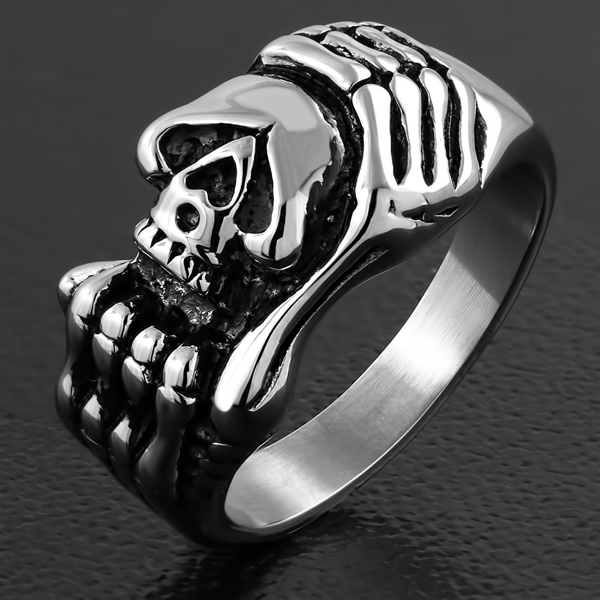 You Have Me Wrapped Around Your Finger Skull Ring (c168)