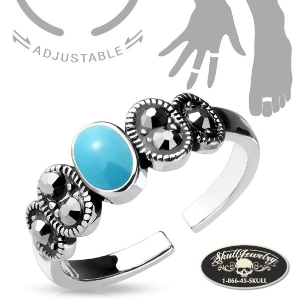 'L.A. Woman' Adjustable Mid/Tow or Finger Ring
