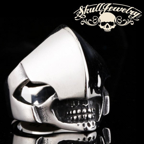 alien stainless steel skull ring