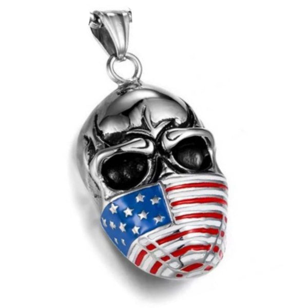red white and blue infidel pendant