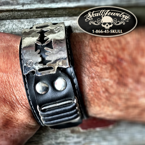 Razors Edge' Leather Bracelet