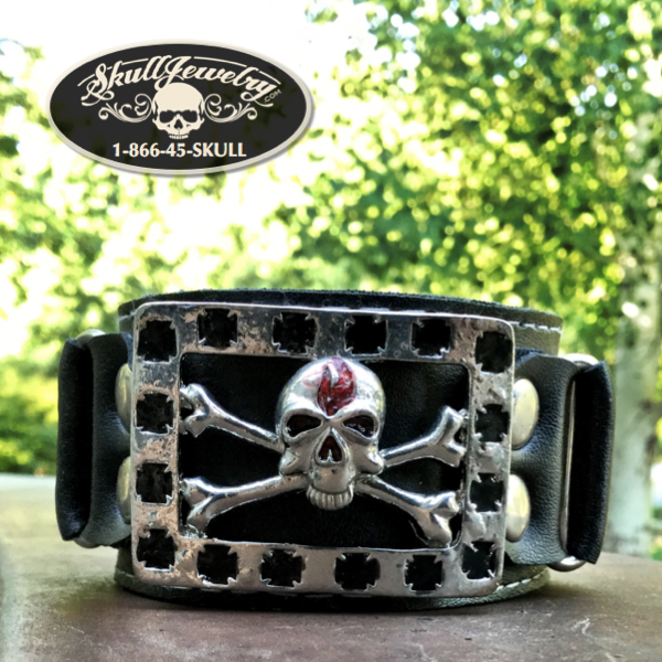 'There's Your Trouble' Leather & Stainless Bracelet